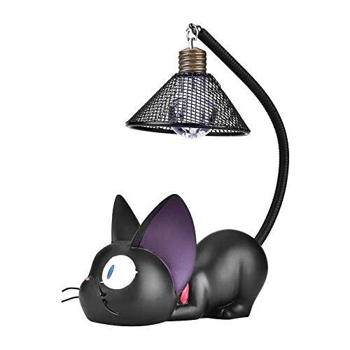 Gato Negro Noche Luces Decoración Lámpara de Noche, Luz de Noche de Gato Negro para Niños, Lámpara Led de Resina de Dibujos Animados, para Niños Decoración para Dormitorio, Mesita de Noche