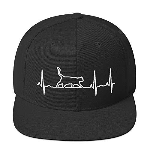 Katze Herzschlag Snapback Fashion Style Cat EKG Kappe Baseball Cap Cooles Design Gestickt Für Damen und Herren
