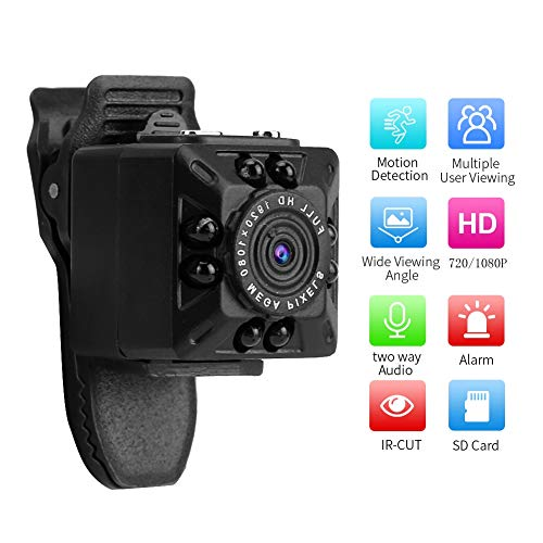 Bewakingscamera-recorder, 1080P 8 IR LED-zakcamera mini-video-audiorecorder USB-thuisauto DVR-monitor Beveiligingscamera