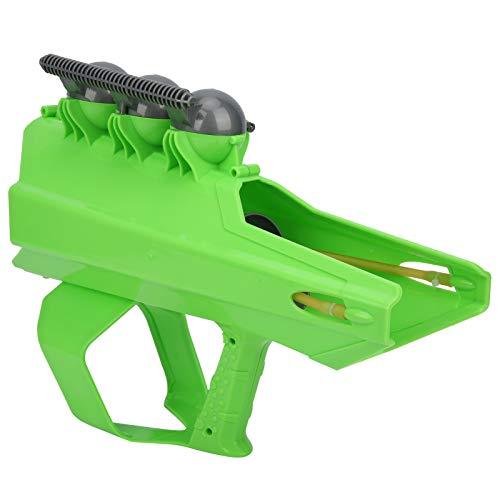 Parluna Juego de Lucha contra la Nieve, diseño de Mango, Pistola de plástico para Bolas de Nieve, 2 en 1, Interesante fabricación de Bolas de Nieve para Adultos, lanzando Bolas de((Green))