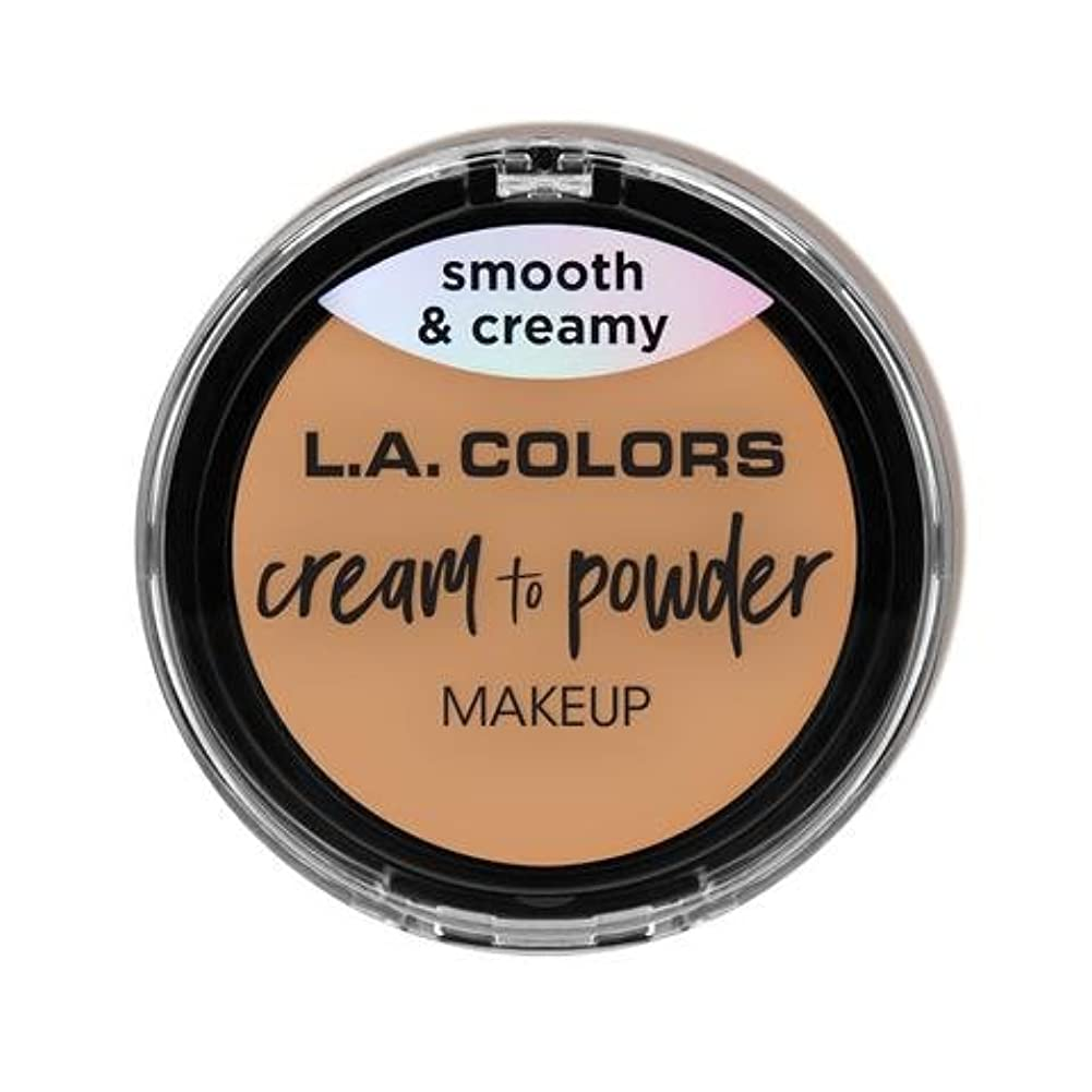 養う半島鰐(6 Pack) L.A. COLORS Cream To Powder Foundation - Honey Beige (並行輸入品)