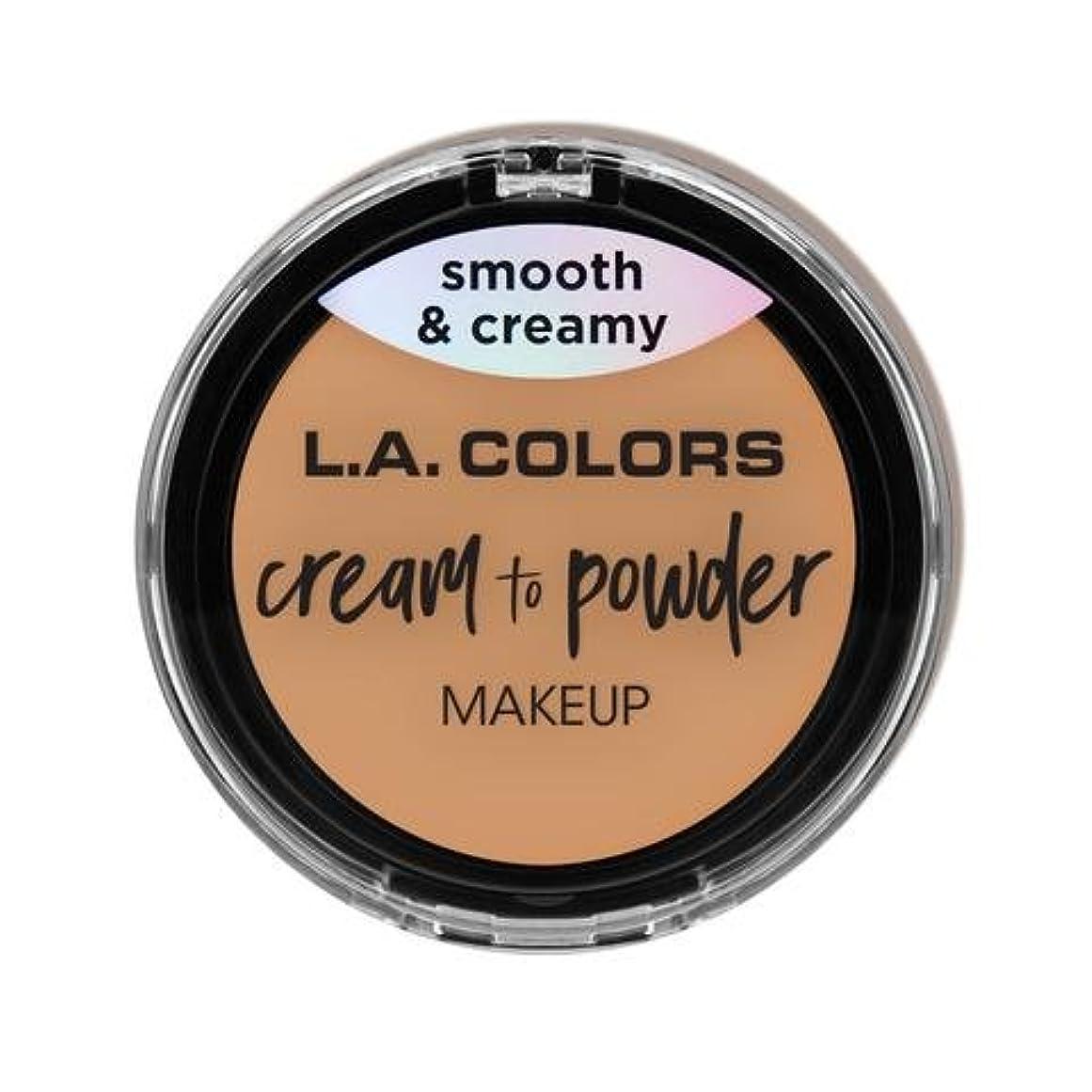無人中国セッティング(3 Pack) L.A. COLORS Cream To Powder Foundation - Honey Beige (並行輸入品)
