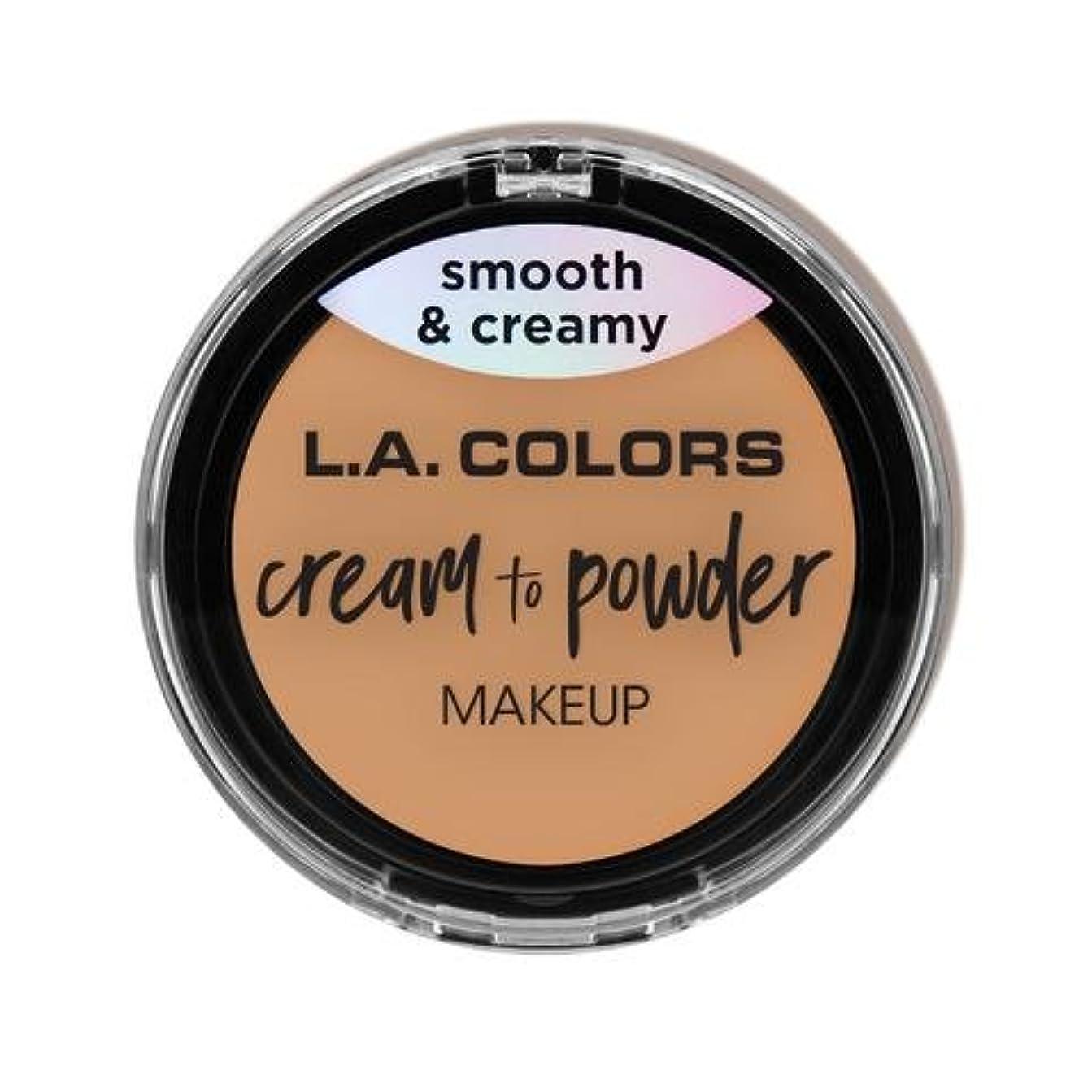 農民サーキットに行く悪い(6 Pack) L.A. COLORS Cream To Powder Foundation - Honey Beige (並行輸入品)