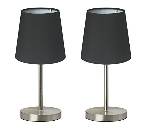Trango Paquete de 2 lámpara de mesa Lámpara de noche lámpara de escritorio Lámpara'Whitney'...