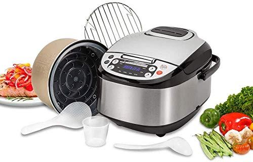 Base Robot de Cocina Multifunción con Voz, Programable 24 Horas, Capacidad de 5 litros (10 Comensales). 4 Menús Preconfigurados, 8 Programas Automáticos