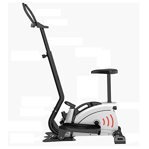 KuaiKeSport Fitnessbike Heimtrainer Crosstrainer,Heimtrainer Fahrrad mit Rückenlehne Ergometer,Verstellbare Lenker und Sitz,Nutzergewicht bis 120kg, Sicherheit Geprüft Stepper für Zuhause