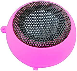 ZYZRYP EDAL Mini Portable Speaker for Universal Phones Smartphones Laptop Tablet PC Music Player (Color : Pink)
