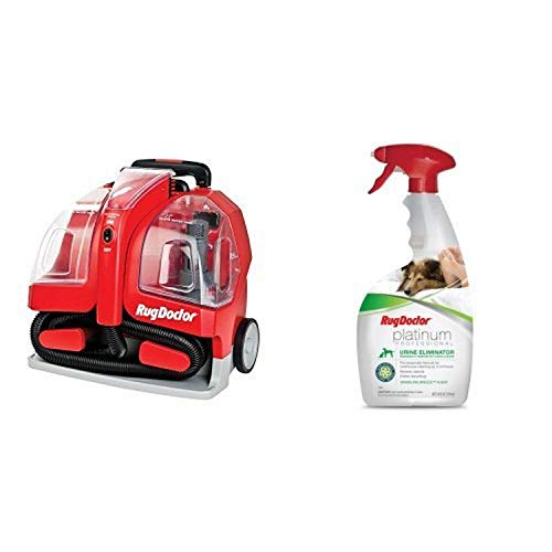 Rug Doctor Portable Spot Cleaner Machine, Red - Corded and Rug Doctor Pet Pro Carpet Cleaner,64oz Bundle