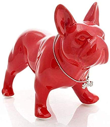 YsKYCA Statues,Collectible Figurines Craft Gift Accessories French Bulldog Statue Dog Ceramic Handicraft Home Object Porcelain Ornament