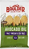 Boulder Canyon Kettle Cooked Potato Chips, Cooked in 100% Avocado Oil, Wavy Canyon Cut, NON-GMO Verified, Gluten Free, Malt Vinegar and Sea Salt, 5.25 Ounce (Pack of 12)