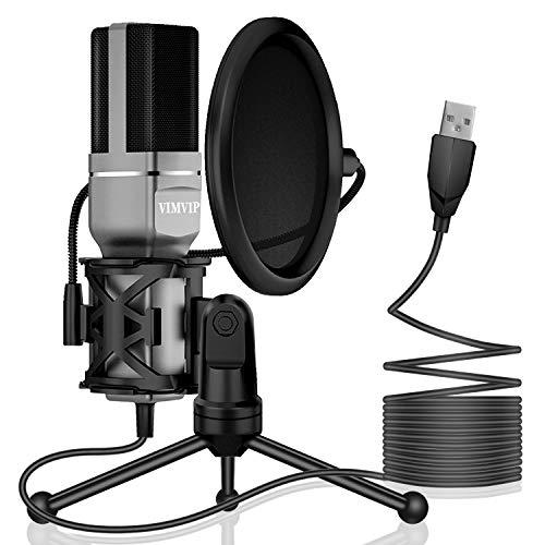 USB Microphone, VIMVIP Microphone for Computer USB Mic...