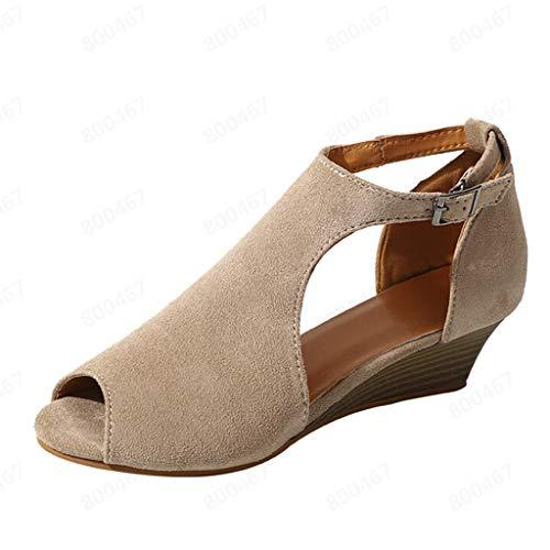 AIni Zapatos De CuñA De Verano Sandalias Romanas Tacones Altos Vintage Tacon...