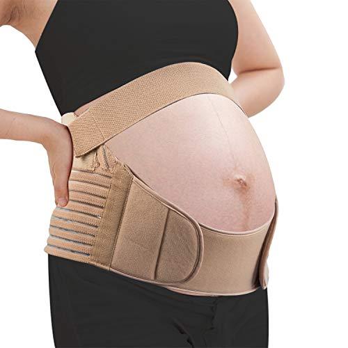 HBselect Bauchband für Schwangere atmungsaktive Bauchband Umstands-Bauchbänder elastische stützend Schwangerschaftsgürtel keinen Druck Bauchstütze für Schwangerschaft und Stillzeit (M (80-110cm))