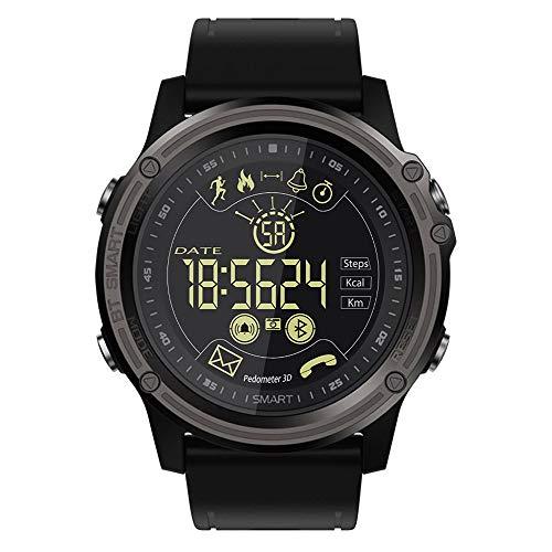 IP68 a prueba de agua de los hombres reloj inteligente luminosa, seguimiento de aptitud de los deportes, la información de recordatorio, cronómetro, compatibles con los teléfonos Android y IOS,B