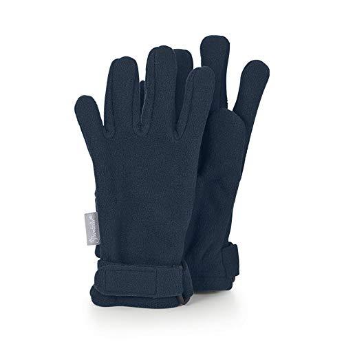 Sterntaler Fingerhandschuhe aus wasserabweisendem Microfleece mit Klettverschluss, Alter: 3-4 Jahre, Größe: 3, Blau (Marine)
