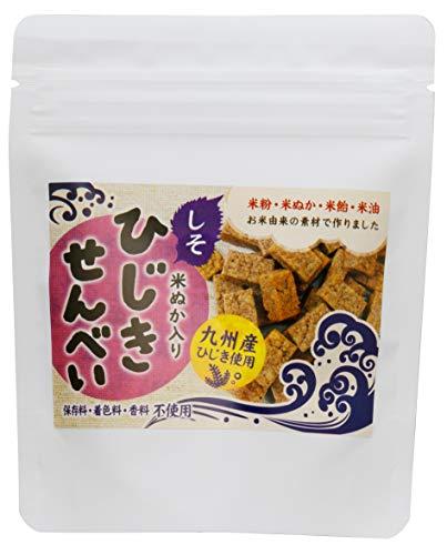 ひじきせんべい しそ味 40g×6P ひじき 米ぬか 栄養強化おやつ