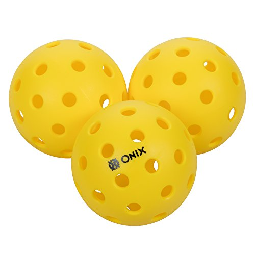 Onix Pure 2 Outdoor Pickleball Balls (8-Pack), Yellow, 8-Pack