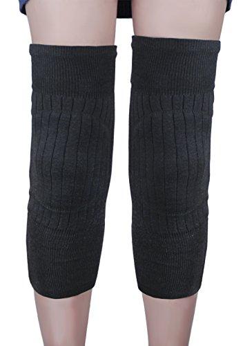 Da uomo e da donna elastico addensare termico scaldamuscoli Winter Plush Cozy ginocchiera imbottiti maniche Leg Wraps Support Protector Legging calze