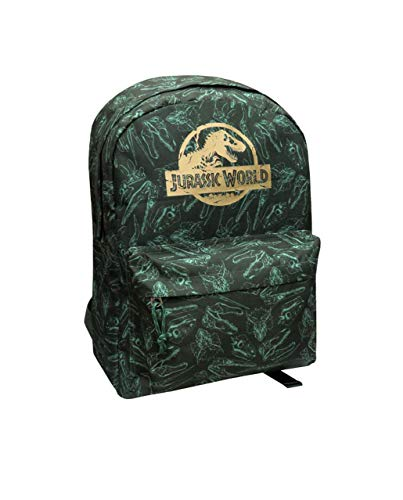 CYP Mochila Juvenil Adaptable a Trolley Jurassic World 40 x 20 x 30 cm, Verde