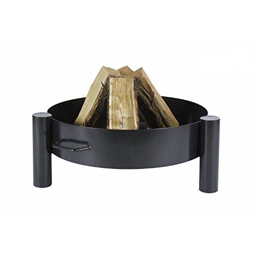 Hohe Feuerschale Feuerkorb schwarzem
