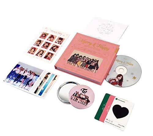 TWICE 1st Repackage Album - Merry & Happy [ HAPPY Ver. ] CD + Photo book + Photo card...