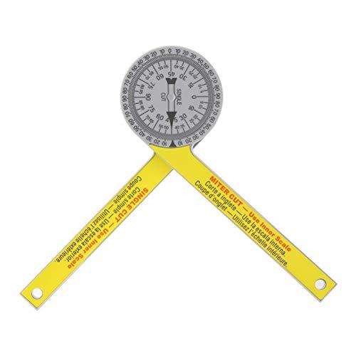 RongWang 505P-7 Calibración Mitre Saw Goniómetro de ángulo Meter Medidor de ángulo del prolongador Mitre Goniómetro Brazo de medición de la Regla