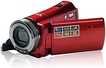 ORDRO DVC HDV-108 720P HD Screen Mini Portable Digital Video Camcorder 16xZoom DV Camera HDMI Video Recorder Output HD Wide Lens (Red)