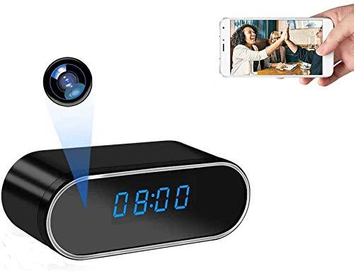 TenSky 1080P HD Wireless Mini Formato P2P WiFi de visión Nocturna Oculta Reloj cámara de Alarma Mini Spy Camera Reloj Ideo Grabador de Soporte iOS Android Remote