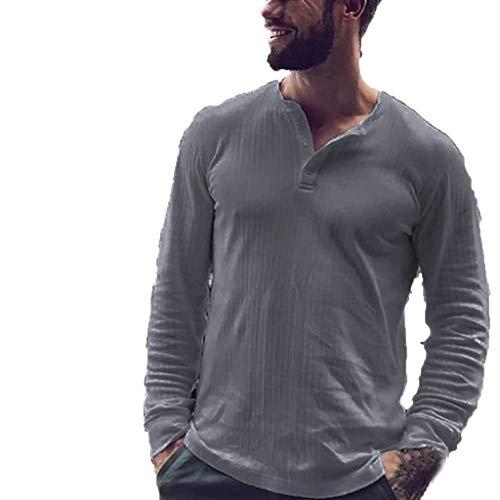 T-Shirt à Manches Longues Homme,Nouveau Style DéContracté à Capuche à Manches Longues col Rond pour Hommes Pull De Couleur Unie Légère Décontracté Long Chandail Long Automne Et Hiver pour Hommes Doit