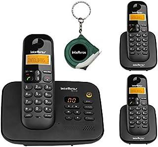 Kit Telefone Fixo sem fio Com Secretaria Eletronica 2 Ramal
