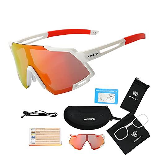 SAVADECK Gafas de sol polarizadas de Ciclismo de Bicicleta Hombres y mujeres Unisex Protección UV-400 Gafas de sol para bicicleta de carretera Bicicleta de montaña (Blanca)