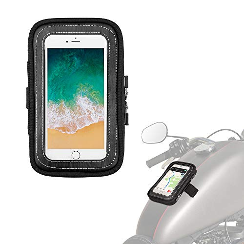 Motorcycle Magnetic Tank Bag, Sportbike Phone Pouch Case with 8 Strong Magnets Touch Screen for cell phone up to 6.5 Inch