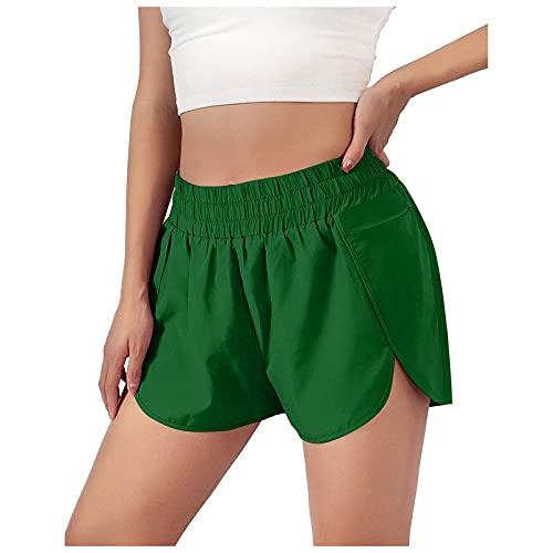 Pantalones Cortos de Yoga Suelta para Mujer Pantalón Cortos Deportivos con Bolsillos Shorts de Deporte Casual Transpirables Pantalones Cortos Running Training Fitness