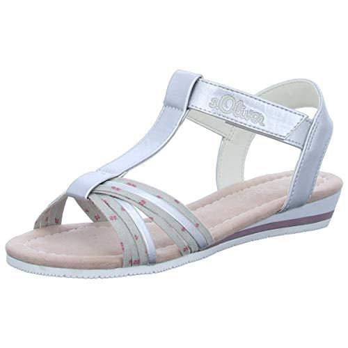s.Oliver Kinder Schuhe Ki.-Sandalette,Silver 5-5-78200-22 941 Silber 643125