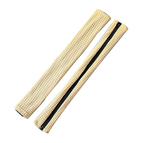 IYSHOUGONG 1 par de fundas elásticas extraíbles de 45,7 cm de largo con cremallera de 45,7 cm de largo para silla de oficina y reposabrazos