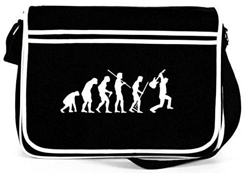 EVOLUTION HEAVY METAL, Music Electric Guitar Retro Messenger Bag Kuriertasche Umhängetasche , Größe: onesize,Schwarz
