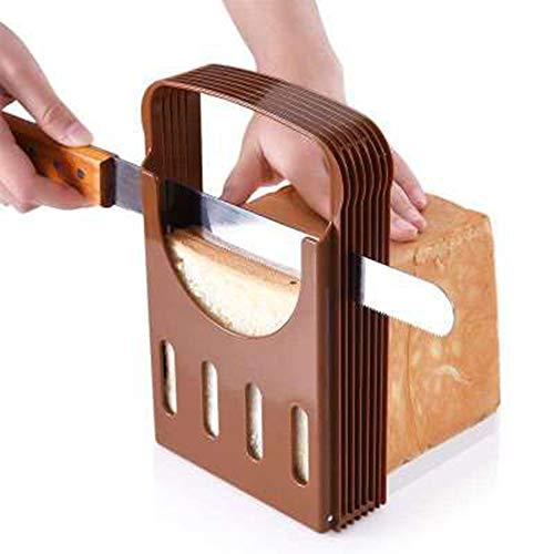 GPWDSN Toastbrot Slicer, Compact Faltbare Brotschneidemaschine Küchen-Backen-Brot-Laib Toast Hobel Cutter Werkzeug