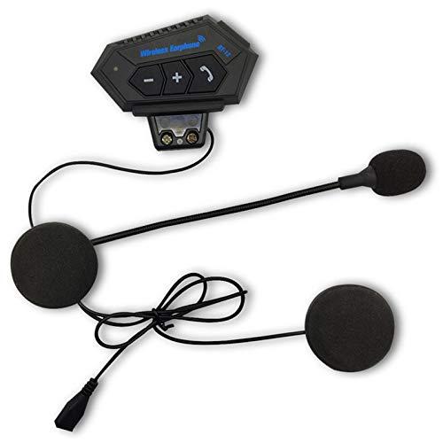 Exanko Motocicleta 4.2 Intercomunicador de Casco Auriculares InaláMbricos Kit de Llamada TelefóNica Interfono EstéReo Antiinterferencias