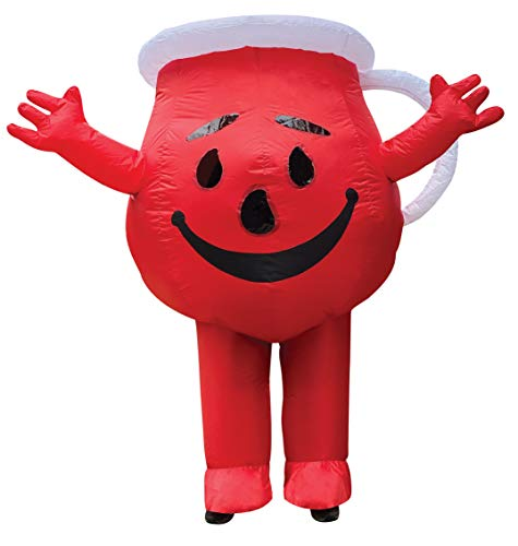Inflatable Kool Aid Man, Inflatable Costume Kool-Aid Sugar Drink Womens Mens Dress Up Party Cosplay Costumes, Over 6 Feet Tall!, Adult One Size Red