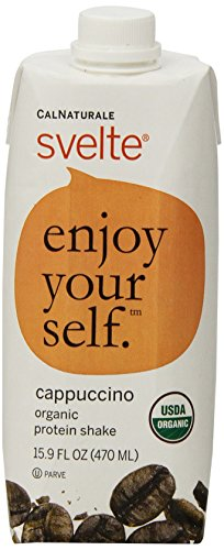 CalNaturale Svelte Organic Gluten Free Protein Shake, Cappuccino, 15.9 Ounce (Pack of 12)