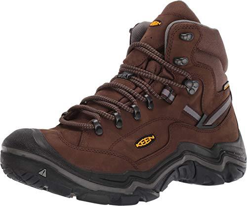 KEEN mens Durand 2 Mid Waterproof Hiking Boot, Cascade Brown/Gargoylee, 9.5 Wide US