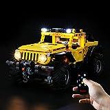 BRIKSMAX Kit di Illuminazione a LED per Lego Technic Jeep Wrangler - Compatibile con Lego 42122 Modello di Blocchi predefiniti- Non includere Il Set Lego(Versione Telecomando)
