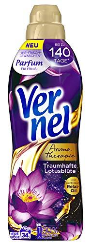 Vernel Aromatherapie Traumhafte Lotusblüte, Weichspüler, 34 (1x34) Waschladungen, für einen langanhaltenden Duft und traumhaft weiche Wäsche