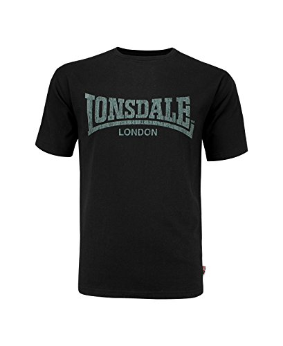 Lonsdale Herren Langarmshirt T-Shirt Trägerhemd Logo Kai schwarz (Schwarz) XXX-Large