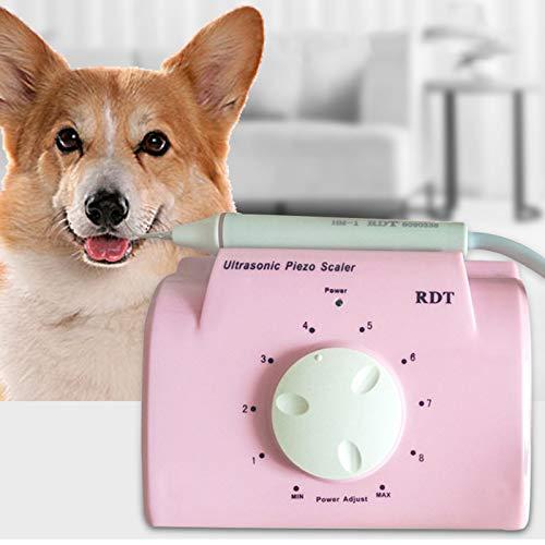 ZOOMLOFT Spazzolino Ultrasuoni Elettrico per Cani Gatti Professionale Animali Rimozione della Placca Dentale da Denti lucidatore per Cane Domestici Strumento per la Pulizia della Bocca con 5 Testine