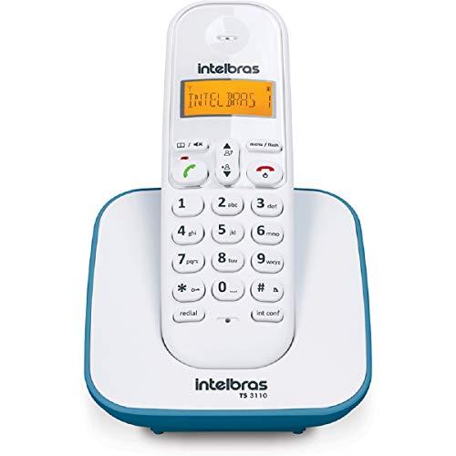 Telefone sem Fio, Intelbras, TS 3110, Branco/Azul