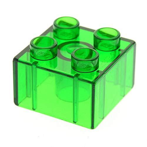LEGO 1 x Duplo BAU Stein 2x2 transparent grün Glassteine für Zoo Parks Intelli Eisenbahn 9125 3325 3614 4168695 3437 31460