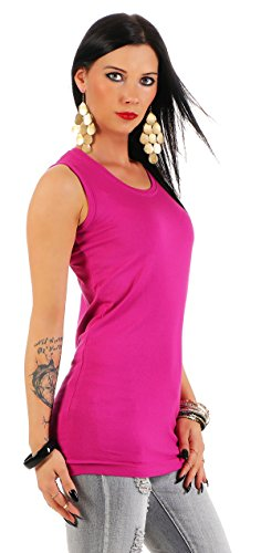 Mellice Damen Longshirt Tank Top Longtop - 075 (44/46, Pink)