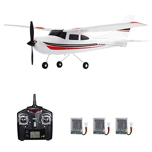 GoolRC WLtoys F949S RC Airplane, 2.4Ghz 3CH RC Plane with Gyroscope, EPP Remote Control Airplane, Easy to Fly RC Aircraft with 3 Batteries for Beginners Kids and Adults