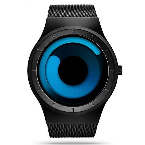 SINOBI para Hombre Reloj de Pulsera Deportivo Cuarzo electrónico Digital Reloj con Alarma Cronómetro Doble Movimiento Hombres de la muñeca Relojes (S9659G-Black/Blue)